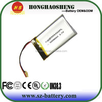 2014 hot sale cheap price 303450 3.7v battery 3.7v 500mah li-polymer battery rechargeable battery