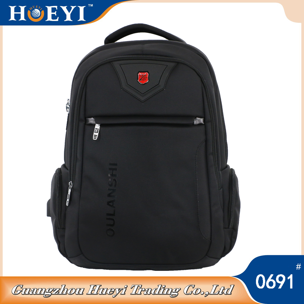 19 inch nylon laptop backpack with USB Port for Charging Electronic Devices