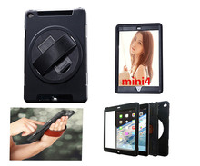 360 Rotation Kickstand PC+TPU Shockproof Case For iPad Mini 4 Cover