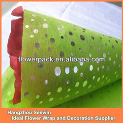 Dot design for packing flower and decoration