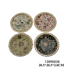 Luxury antique decorative plate ceramic wall decorative plate set for house decor
