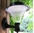 Solar garden wall light with solar panel
