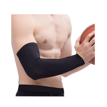 Black Lycra Sports Baseball Golf Football Basketball Sun Protection Arm Compression Sleeve