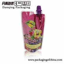 Free sample customized design gravure printing flexible food packaging straight spout bags with logos
