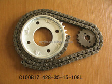 C100BIZ,Motorcycle Chain Sprocket kit,Good Quality,Factory Price