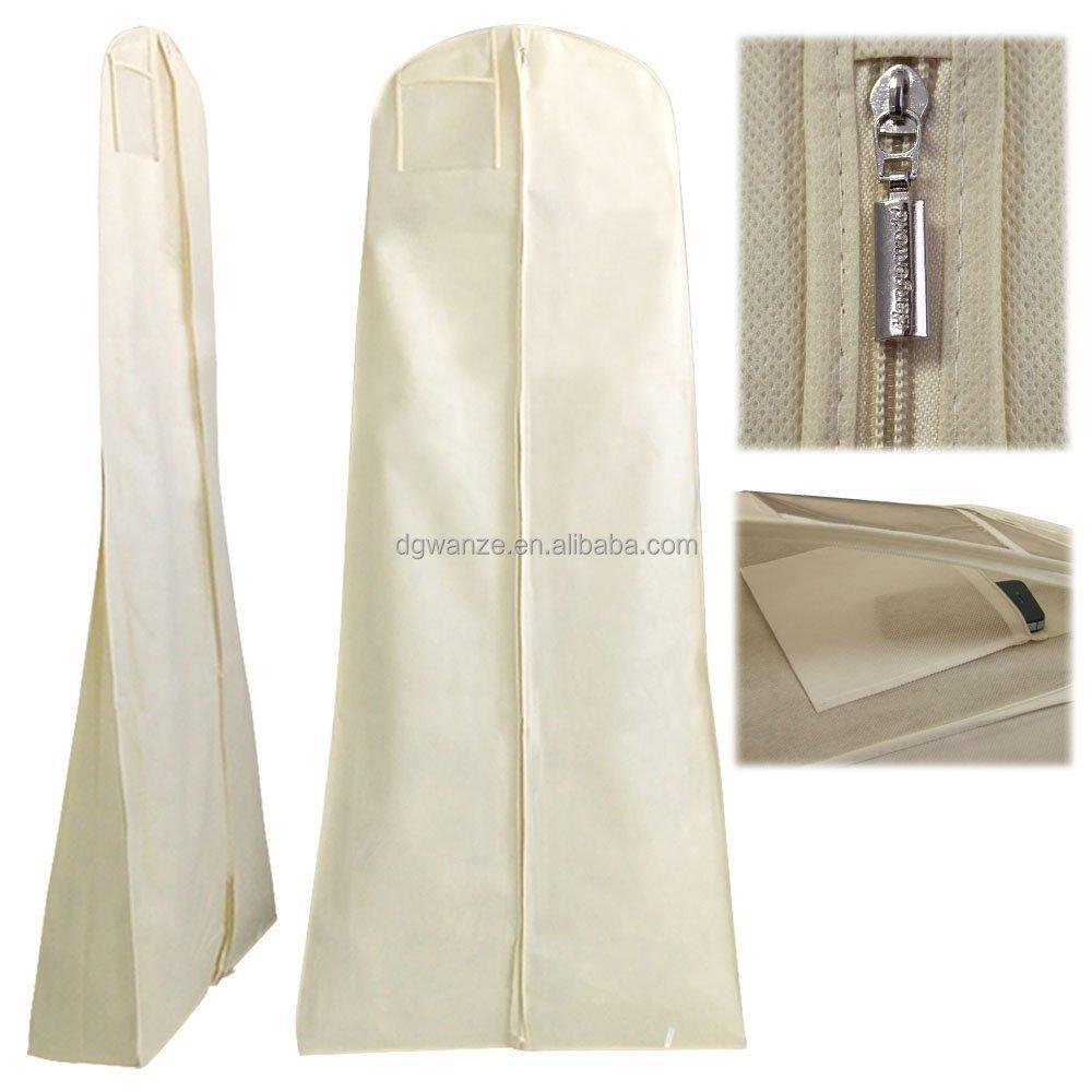 breathable wedding dress garment cover wedding bridal dress gown garment bag extra long with. Black Bedroom Furniture Sets. Home Design Ideas