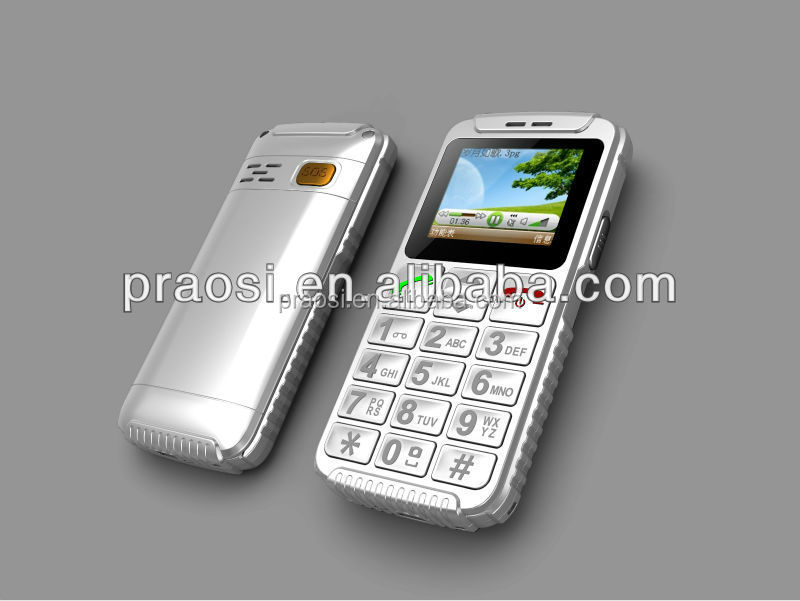 large display color screen big fonts numbers senior citizen mobile phones with quad band use in worldwide