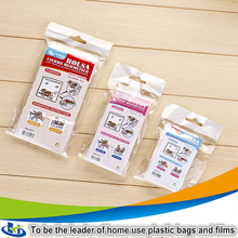 Home storage food packaging bread oker plastic sealed bags clear plastic zippered storage bag