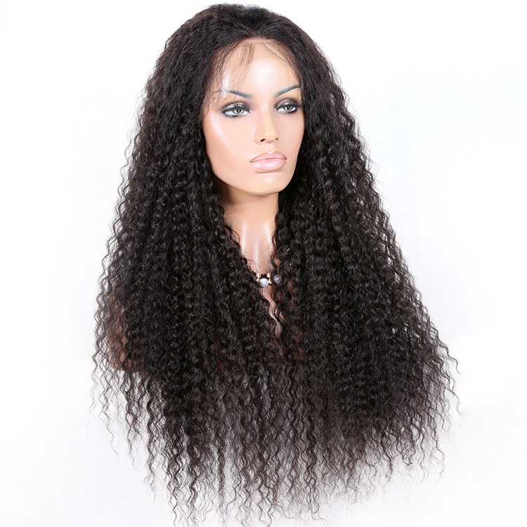 Qingdao hair factory high quality Chinese virgin hair <strong>130</strong>% density lace front wig deep wave popular style