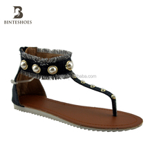 bead sandal shoes slide slipper sandal flat women shoes 2017 quality chinese products china shoe factory latest girl footwear
