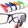 Portable Mini Pocket Microfibre Spectacles Glasses Eyeglass Sunglass Cleaner Brush Tools