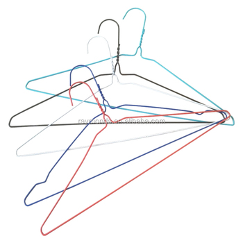 painted gold wire hanger for simply laundry