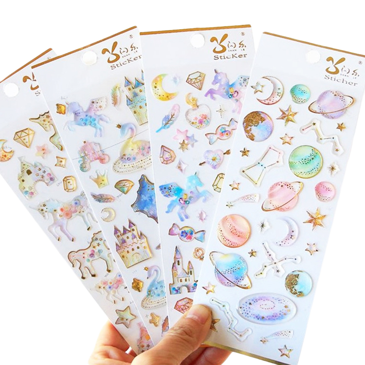 Fast Delivery Removable 3D Soft Custom PVC Foam Puffy Sticker