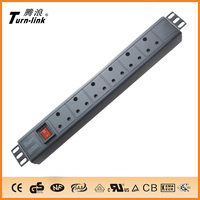 High Quality 1.5U South Africa 6 ways PDU socket for cabinet