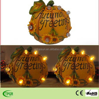 Polyresin pumpkin led string light Harvest festival decorations solar garden light pumpkin decoration