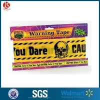 Caution, halloween party decorative Zombie printed plastic warning tape/caution tape