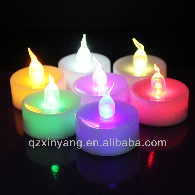 3.6cm*3.6cm Flameless LED Candle Embellishments