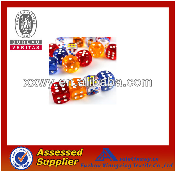 Manufacture/promotional 16mm Caved/printined Acrylic Dice
