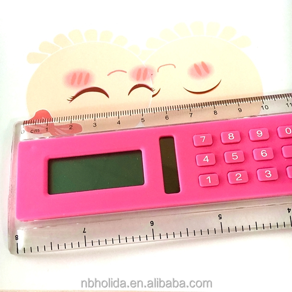 20 cm lcd ruler calculator, clear plastic calculator pcb/ HLD-805