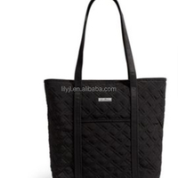 2 Pc Quilted Tote Cosmetic Bag