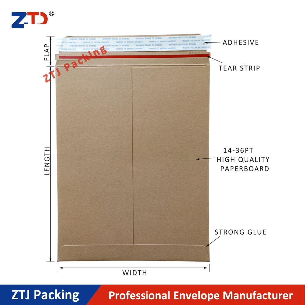 Kraft Brown Stay Flat Utility Mailers