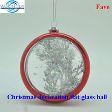 snow covered trees decorated clear glass christmas balls wholesale