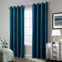 New Design European Style Blue Hotel Office Hospital Luxury Velvet Curtains Fabric for the Living Room Blackout