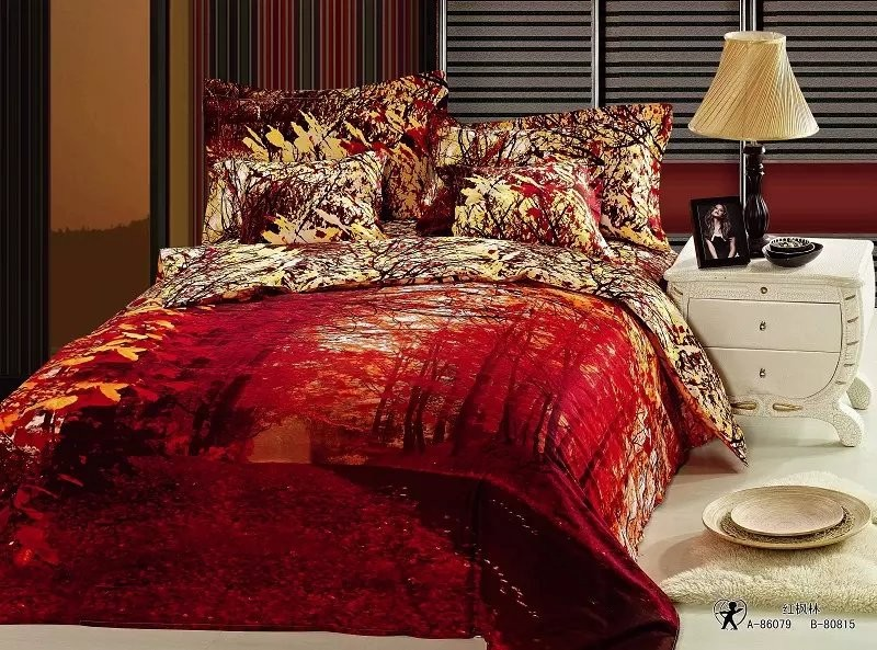 100% polyester printed 4pc bedding