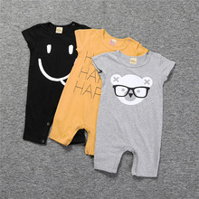 Toddlers Clothing Baby Rompers One Piece Kids Cotton Printing Bodysuit