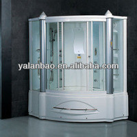 G161 High quality Acrylic sauna bath indoor steam shower room with full copper faucet and fog-free mirror