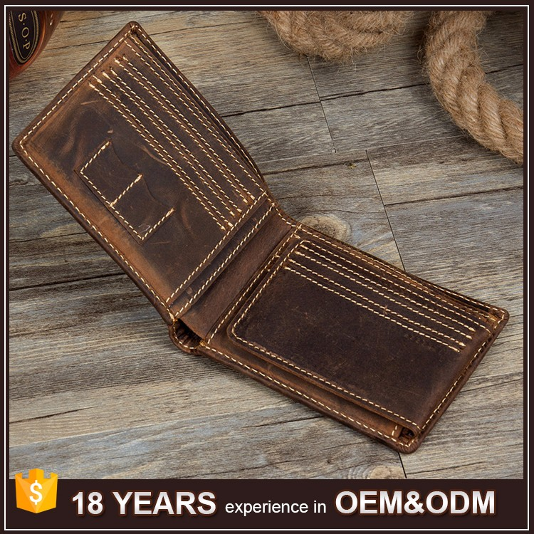 Real Cowhide Leather Import Custom Design Leather Gents <strong>Wallet</strong>