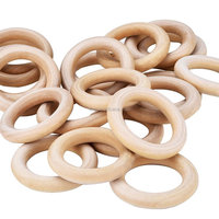 Wooden Rings Circle Craft, Ring Pendant and Connectors Jewelry Making