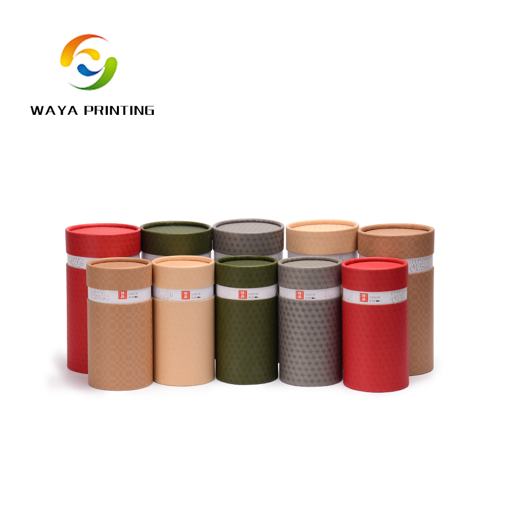 Factory kraft paper different color printed tea paper <strong>tube</strong>
