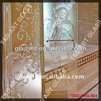 Good taste diamond type curved shower door for shower room