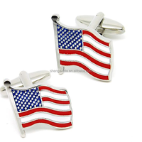 Flag Cuff Link Men Wholesale Popular Flag Epoxy Cufflinks