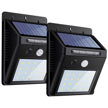 2017 NEW 2-Pack 20 LED Solar Lights,Outdoor Motion Sensor Wall Light