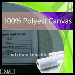 Top quality Eco-solvent polyester printing canvas poly coated canvas