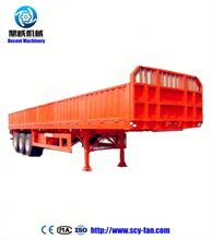 FAW dump truck chassis Flatbed trailer dimensions with 3 axles