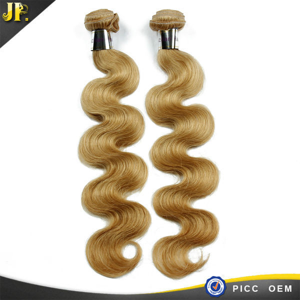 Wholesale Double Drawn Color 27# brazilian Virgin Human Hair