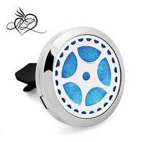 Stainless Steel Essential oil Aromatherapy Locket Perfume Diffuser Car Air Freshener