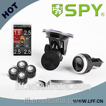 Tire pressure monitoring system for smartphone with tpms bluetooth