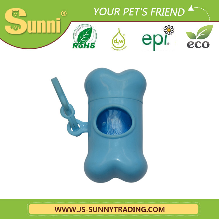 Biodegradeable dog shaped poop bag dispenser (made in china)