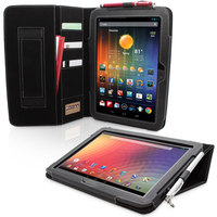 Snugg case for Nexus 10 Executive Case Cover and Flip Stand in Black Leather