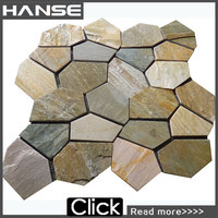 HS-WT113 Foshan factory for wall cladding natural split plastic paving stone