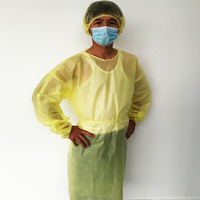 waterproof yellow hospital isolation gowns for sale