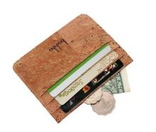 Boshiho men gender RFID slim cork wallet Eco-friendly Cork student id cards holder
