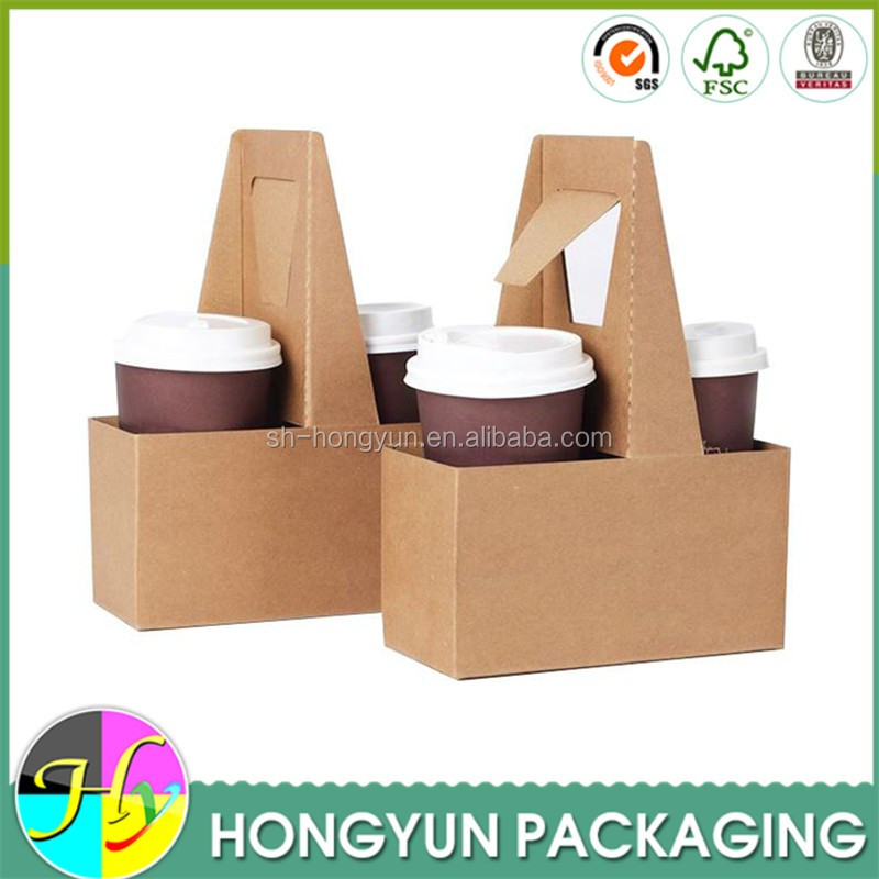 Alibaba china kraft cardboard carrying boxes/coffee cup holder