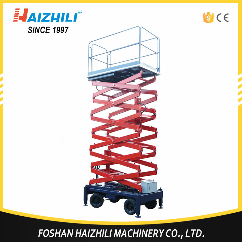 Super quality 6m mobile self propelled electric scissor lift platform
