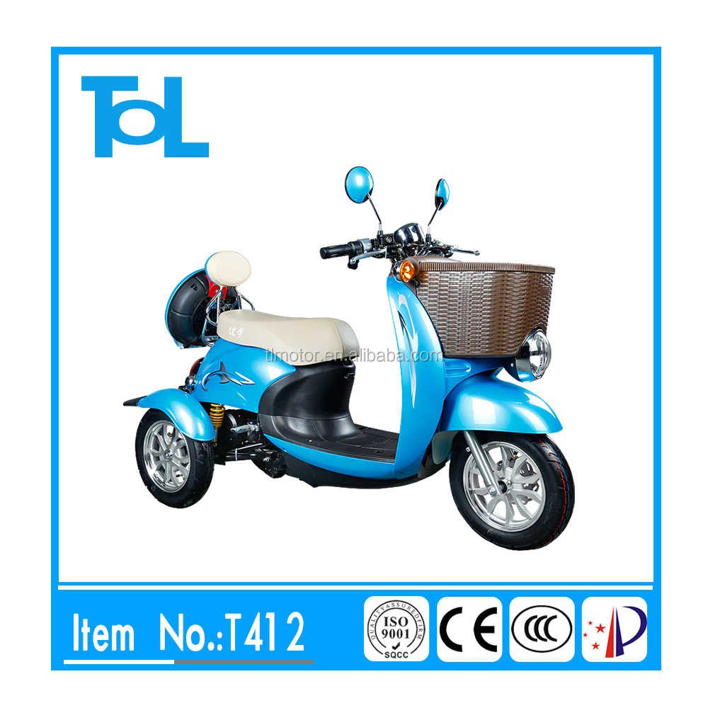 48v 500w Hot selling good quality CE approved mini electric three wheel scooter