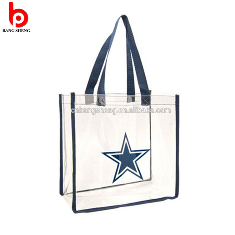 Top great transparent pvc foldable shopping bag